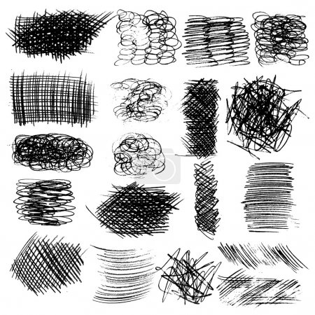 Set of ink lines