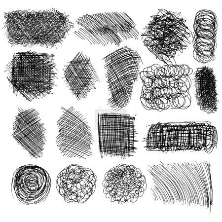 Set of hand drawn lines
