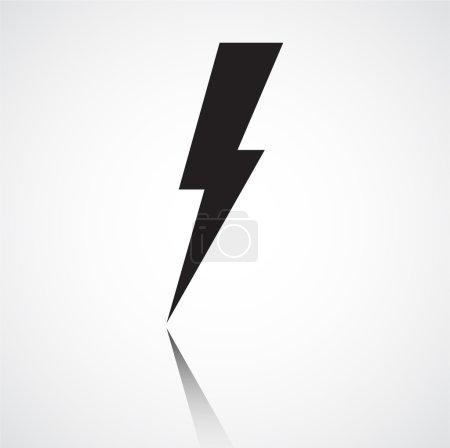 Black Lightning bolt