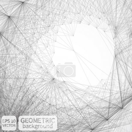 Illustration for Abstract geometric background.   Vector illustration. Geometric lines background - Royalty Free Image