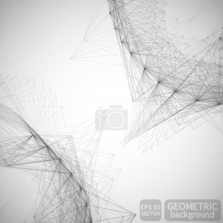 Abstract geometric lines background