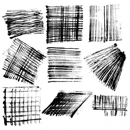 Abstract grunge elements set