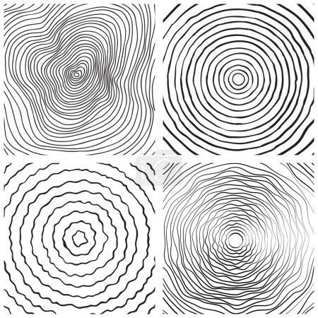 Set of tree rings