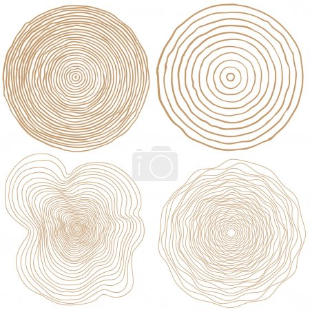 Set of tree rings