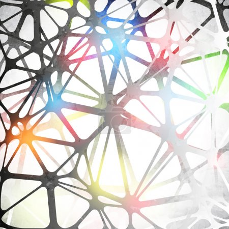 Illustration for Abstract image of the Polygonal molecular structure of the brain background - Royalty Free Image