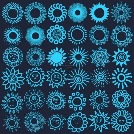 Light blue logos