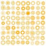 Vector set of sun symbols....