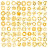 Set of sun symbols