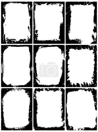 Set of grunge vector