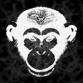 Grunge Sketch of chimpanzee