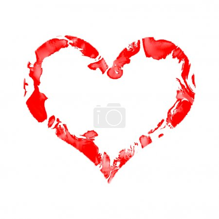 Red paintad heart