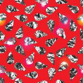 Seamless pattern made of random water drops or rain metallic texture Vector illustration