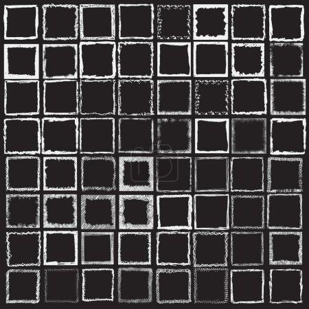 Large set of square frames.