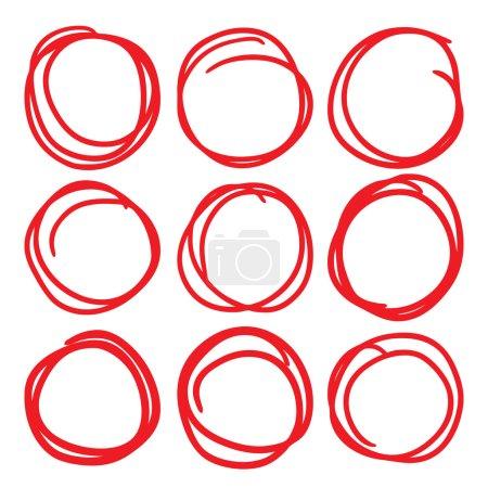 Red highlight circle set