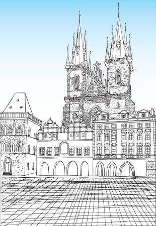 Prague town, Czech Republic.
