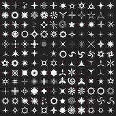 Super Set of vector sparkles icons