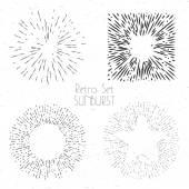 Bursting rays design elements