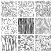 Set of ink hand drawn hatch texture