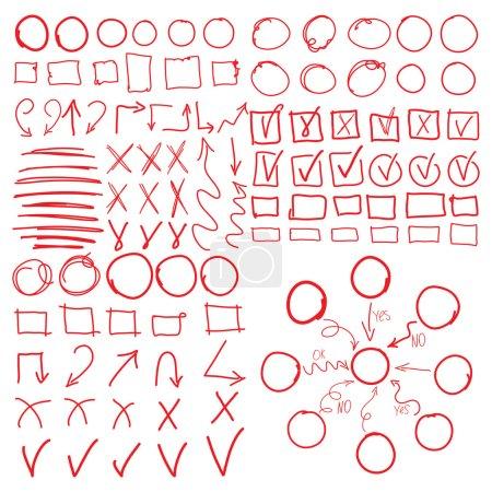 Circle set, scribbles