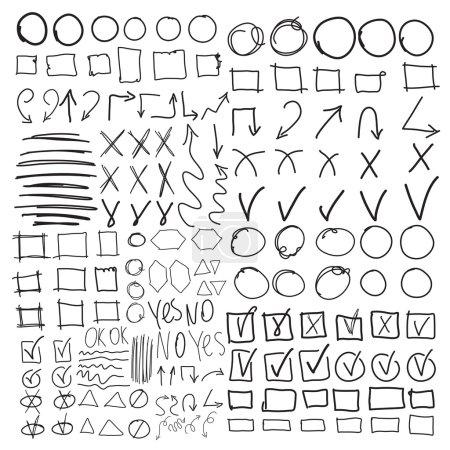 Set of school marks