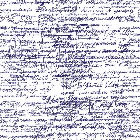 Illustration for Geometry, math, physics, electronic engineering subjects. Lectures. Lessons record. Blue pen ink. - Royalty Free Image