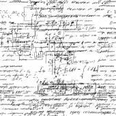 Seamless endless pattern background with handwritten mathematical formulas