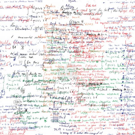 Illustration for Lectures archives on different subjects, graphic design, typography, web programming. Natural hand writing style. - Royalty Free Image
