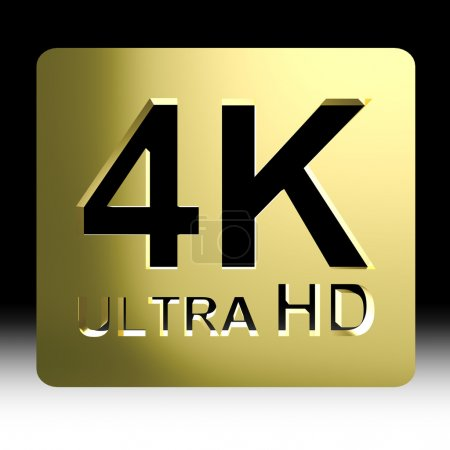 Gold 4K ultra HD sign