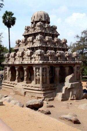 Pancha ratha temples in Mammallapuram, India