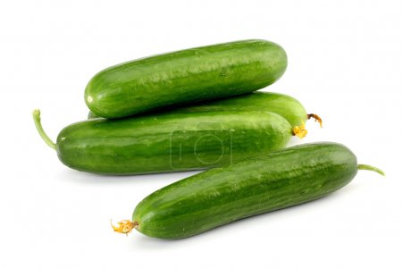 Photo for Fresh cucumbers isolated on white - Royalty Free Image