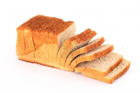 Loaf of bread isolated on white background