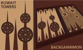 Kuwait Towers Backgammon