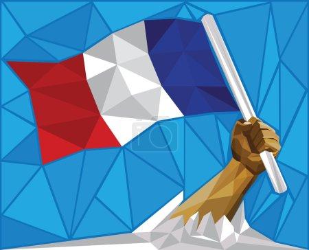 Vive La France - Victoriuos France Raising National Flag