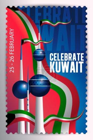 Celebrate Kuwait Stamp