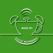 Background with alarm clock The concept of early awakening Morning wake up and deadline Cup of coffee
