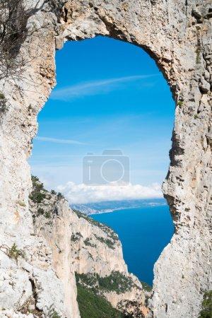 Natural arch in Sardinia