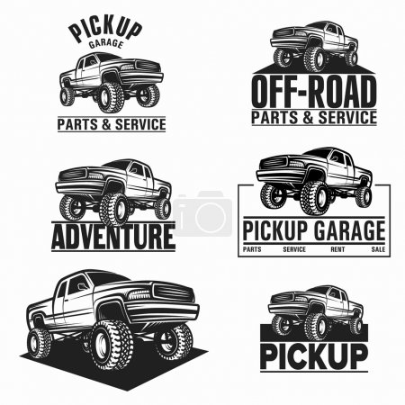 car truck 4x4 pickup off-road logo