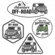 Off-road suv car emblems, badges and icons. Rock c...
