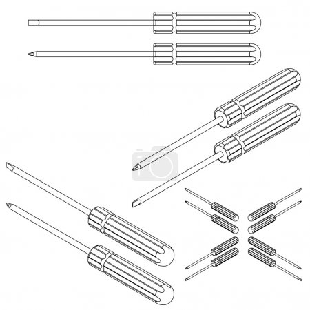 Illustration for Set tools on a white background - Royalty Free Image