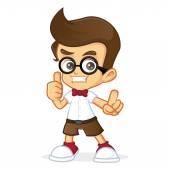 Nerd Geek giving thumb up