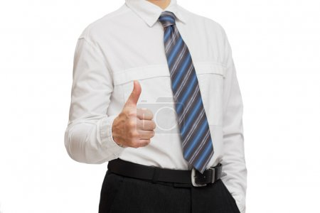 Businessman in white shirt and tie