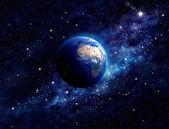 """Постер, картина, фотообои """"Планета Земля в космическом пространстве"""""""