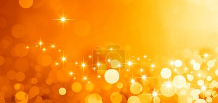 Photo for Shiny gold background in starlight and sparkles - Royalty Free Image
