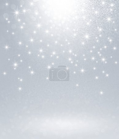 Photo for Shiny silver background with starlight raining down - Royalty Free Image