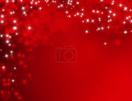 Photo for Shiny red background with starlight raining down - Royalty Free Image