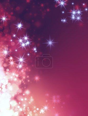 Photo pour Fond violet brillant avec une pluie d'étoiles vers le bas - image libre de droit