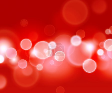 Photo for Shiny red background with blurry circles - Royalty Free Image
