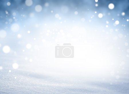 Photo pour Fond de neige brillante dans l'explosion de lumières brouillées - image libre de droit