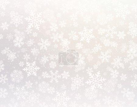 Photo pour Formes de flocons de neige sur un fond argenté - image libre de droit