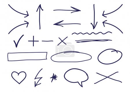 Illustration for Draw correction elements - Royalty Free Image